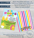Rodan Skincare Business Launch Invitation, Editable Easter BBL Invite, For Peeps Sake Cocktails and Conversation Printable