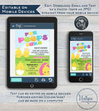 Rodan Skincare Business Launch Invitation, Editable Easter BBL Invite For Peeps Sake Cocktail Digital Electronic Smartphone INSTANT DOWNLOAD