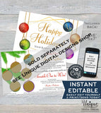 Printable Rodan and Happy New Year Cards Scratch Off, Editable Thank You R F pc appreciation Card, Custom Champagne Gifts INSTANT DOWNLOAD