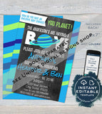 Space Baby Shower Invitation, Editable Astronaut Theme Baby Boy Shower Invite Its a Boy Custom Out of this World, Printable INSTANT DOWNLOAD
