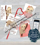 Truck Valentine Card, Kids Editable Valentines Day from boy, Classroom Favor Tags Construction Printable Custom Template INSTANT DOWNLOAD