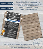 Family Reunion Invitation, Editable Annual Backyard Family BBQ Party, Summer Kick off Gathering Rustic Chalkboard Printable