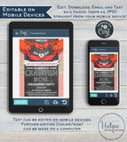 Crawfish Boil Invitation, Editable Crawfish Engagement Party Grill Pinch Us Lobster Bake Married Wedding Print Personalized INSTANT DOWNLOAD