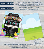 Easter Gender Reveal Invitation, Editable Easter Egg Hunt Baby Invite Baby Shower Hoppy Easter Personalize Custom Printable INSTANT DOWNLOAD