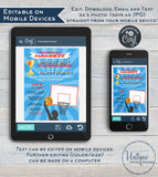 Basketball Fundraiser FLYER, Editable Shoot Out Tournament Slam Dunk Basketball Invitation 3 on 3  Printable Custom