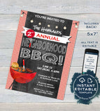 Neighborhood BBQ Invitation, Editable Backyard Summer Block Party Grill Out, hoa Community Street Party Printable Template INSTANT DOWNLOAD
