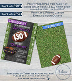 Football Birthday Invitation Tailgate and Touchdowns, Editable Tailgate Invitations Footy Chalkboard Printable