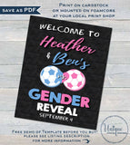 Soccer Gender Reveal KIT, Editable Soccer Decoration Party Pack Bundle, Baby Shower Invite Suite, Team He or She, Printable