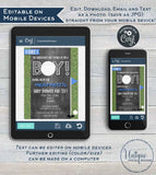 Golf Baby Shower Invitation, Editable Hole in One Par-tee Invite Golf Boys Baby Shower Partee Template Printable Custom INSTANT DOWNLOAD 5x7