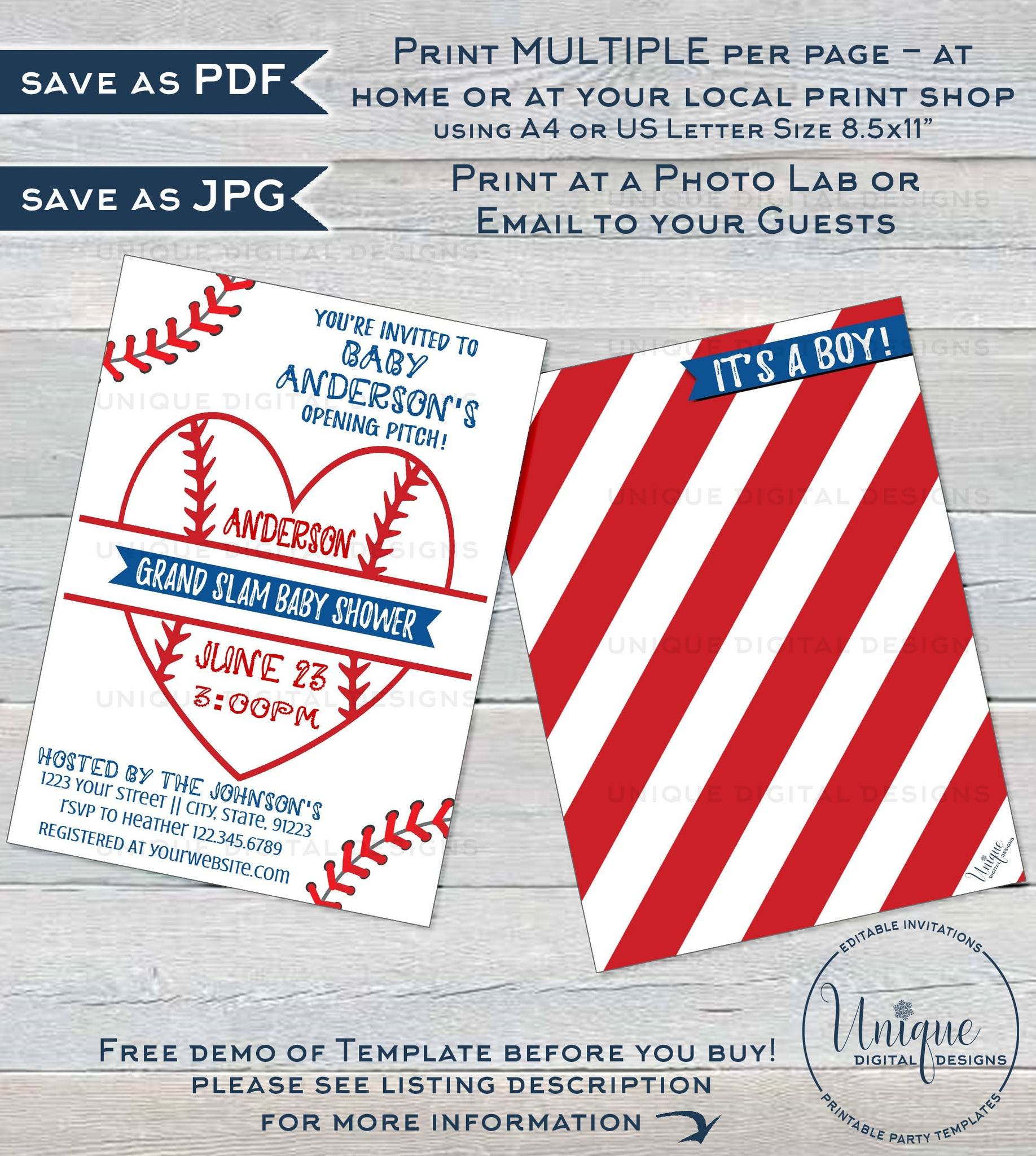 graphic about Free Printable Baseball Baby Shower Invitations identified as Editable Baseball Child Shower Invitation, Kid Sprinkle Boy