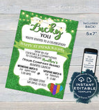Rodan and Invitation, Editable New Consultant Business Launch Party, St Patrick's Day BBL Invite Green Cocktails, Printable