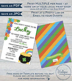 Rodan and Invitation, Editable Consultant Business Launch Party. St Patricks Day BBL Invite Lucky Green Cocktails Printable