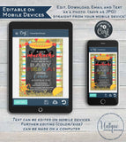 Little Muchacho Baby Shower Invitation, Editable Baby Fiesta Invite, Taco bout a Baby Cinco de Mayo, Printable Template INSTANT DOWNLOAD 5x7