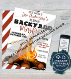 Editable Block Party Invitation , Neighborhood Street Party, Backyard Summer BBQ Grill Out hoa Custom diy Printable