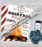 Block Party Invitation , Editable Neighborhood Street Party Flyer, Backyard Summer BBQ Grill Out Custom Printable