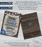 Family Reunion Invitation, Editable Annual Summer Kick-off, Backyard Family BBQ Party, Gathering Rustic Mason Jar Printable