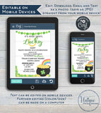 Rodan Skincare Consultant Business Launch Invitation, Editable St Patrick's Day BBL Invite, Lucky Green Cocktails Printable INSTANT DOWNLOAD