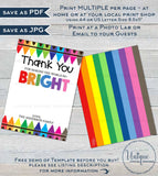 Teacher Gift Card holder, Editable Staff Thank You Card, Printable Teacher Appreciation Bright Crayon diy Digital Printable INSTANT DOWNLOAD