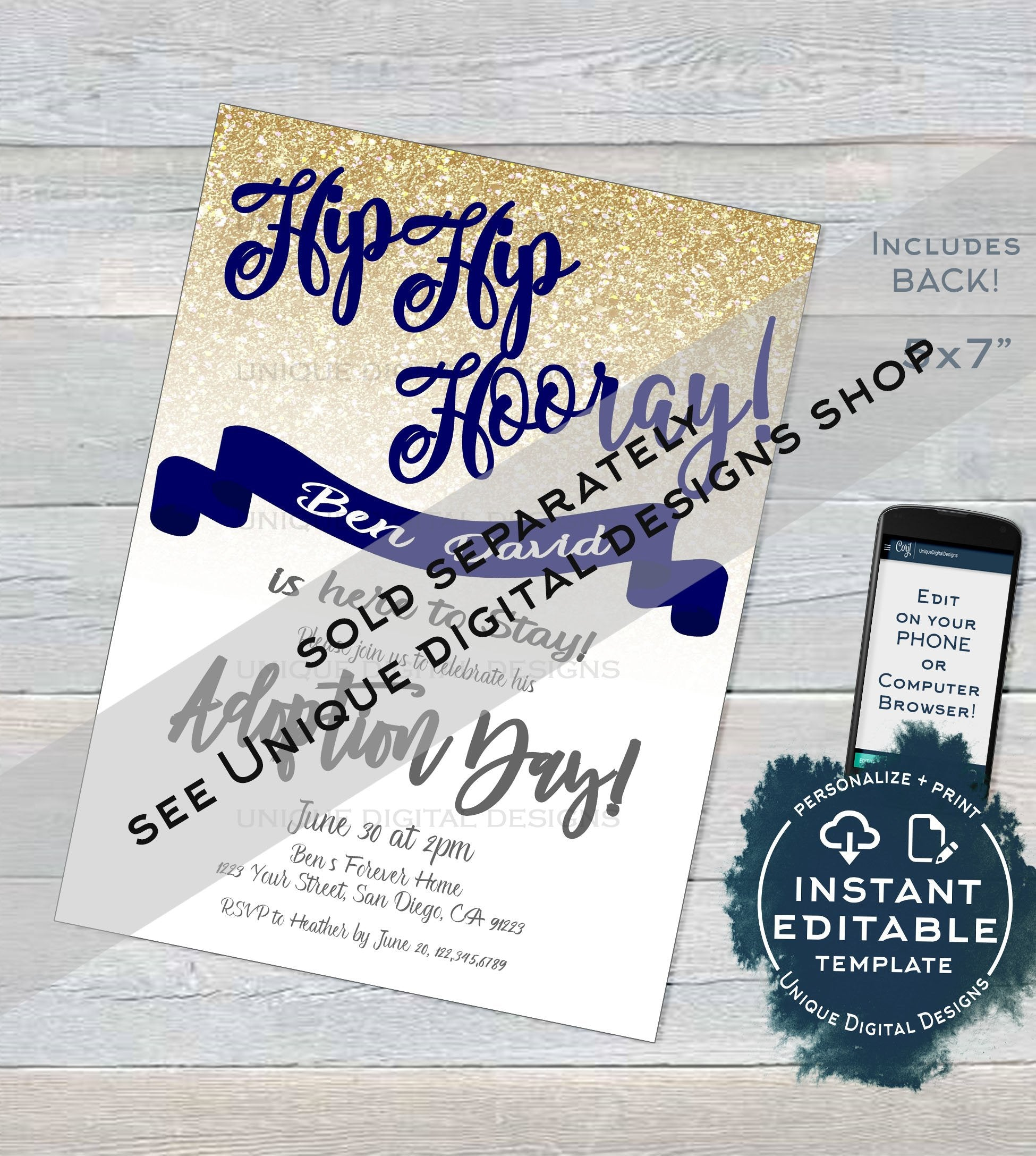 Siblings Adoption Day Sign Editable It S My Adoption Day Photo Prop A