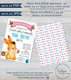 Easter Egg Hunt Festival Flyer, Editable Happy Easter Egg Invitation,  Spring Printable School Easter Poster, PTA Community Church