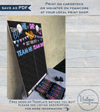 Gender Reveal Cast Vote Sign, Editable Baseball Baby Board He or She Chalkboard, Exploding Ball, What will Baby Printable