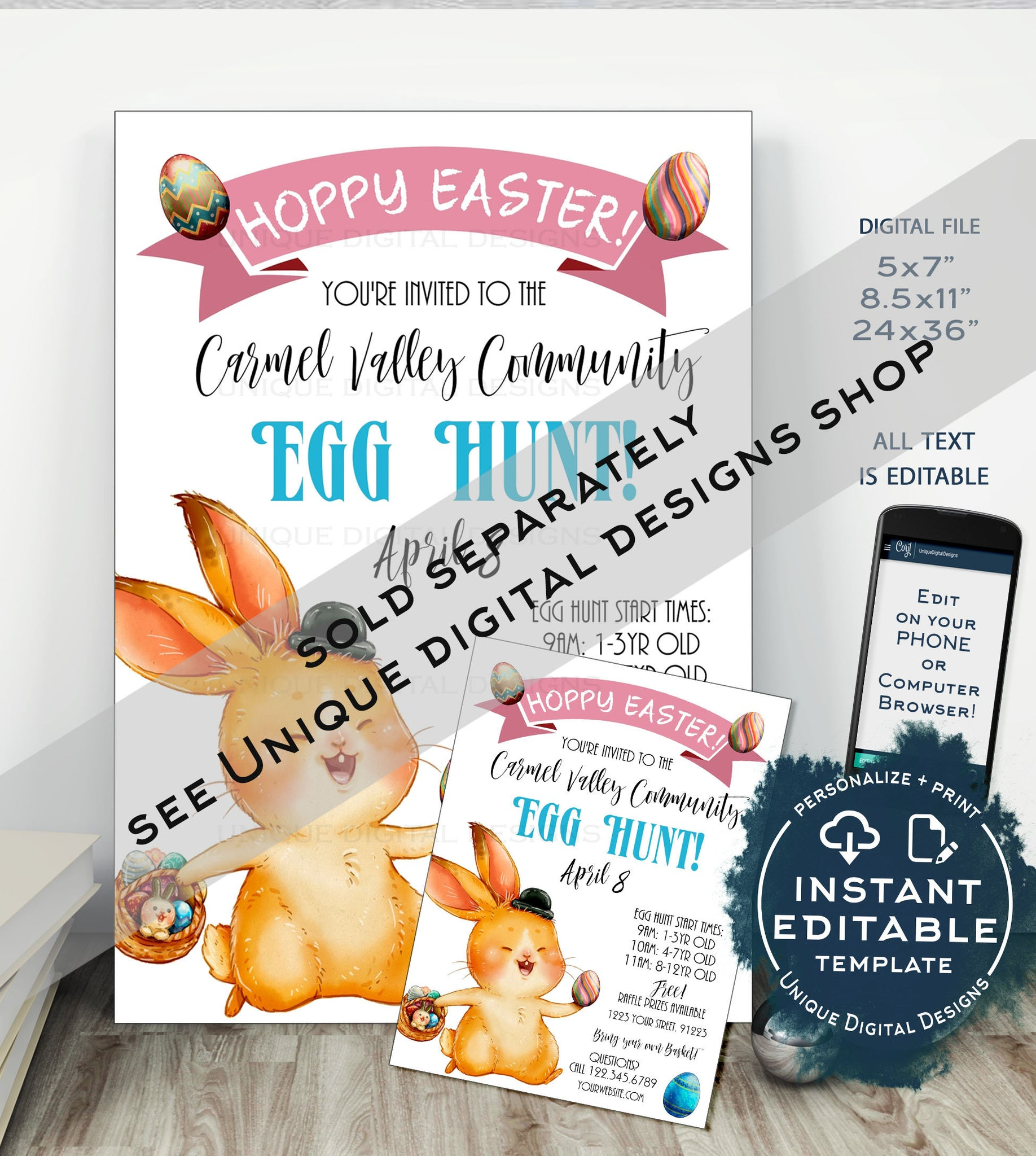 graphic regarding Letter From Easter Bunny Printable named Siblings Easter Bunny Letter, Editable Letter versus the
