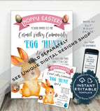 Girls Easter Bunny Letter, Editable Letter from the Easter Bunny Note, Easter Rabbit Trap Message diy Personalize Printable INSTANT DOWNLOAD