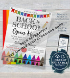Editable Teacher Appreciation School Lunch Invitation, School Staff Appreciation Luncheon Invite, PTA School Flyer