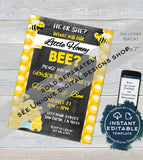 Honey Bee Gender Reveal, What will Baby Bee Editable Old Wives Tales & Cast Vote Signs, He or She Chalkboard, diy Printable