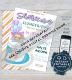 Summer Pool Party Birthday Invitation, Editable Pool Party Invite, Summer Birthday Party, diy Personalized Custom Printable INSTANT DOWNLOAD