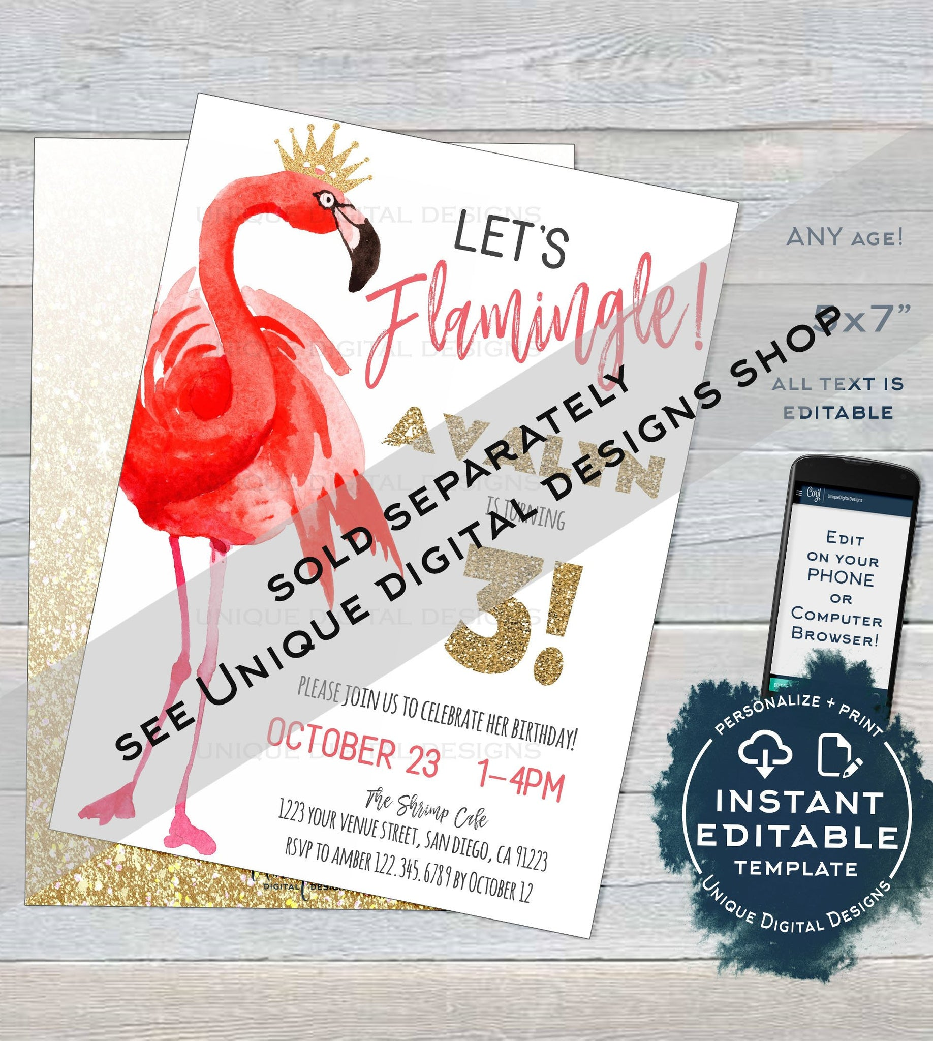 image regarding Printable Flamingo Template known as Enables Flamingle Little one Shower Invitation Template, Editable Youngster Woman Shower Invite Custom-made Purple Flamingo Celebration Printable Fast Obtain