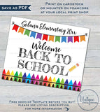 Editable Welcome Back to School Sign, Reusable Teachers Classroom Decorations, First Day of School, Printable   UTCR