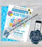 Editable Unicorn Pool Party Invitation, Girls Unicorn Birthday Pool Party, Any Age Rainbow Birthday Party, Summer Printable