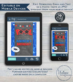 Editable Pool Party Invitation, Summer Red White Blue Pool Party, ANY Age Stars Stripes 4th of July Birthday, diy Printable INSTANT DOWNLOAD