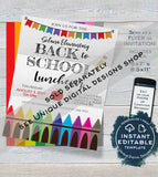 Back to School Tea & Coffee Invitation, Editable Meet your Teacher Invite, Bake Sale Printable School Flyer, Digital