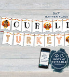 Little Turkey Gender Reveal Party, Editable Old Wives Tales Sign, Cast Vote Baby Turkey Poster Personalized Digital Printable INSTANT ACCESS