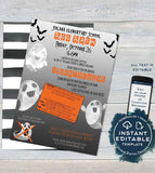 Boo Bash Invitation FLYER, Editable School Halloween Party Printable Invitation pta Fundraiser Spooktacular Church School diy INSTANT ACCESS