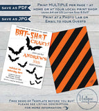 Batshit crazy Birthday Invitation, Editable Halloween Birthday Invite, ANY Age, Adult 30th Birthday Bats, Printable