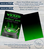 Halloween Party Invitation, Editable Halloween Wicked Witch Invitation, Adult Wicked Costume Party Printable Template INSTANT DOWNLOAD 5x7