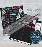 Halloween Gender Reveal Party, Cast your Vote Sign, Booy or Ghoul Ghosts, Baby Reveal Chalkboard, Digital Printable INSTANT DOWNLOAD 16x20
