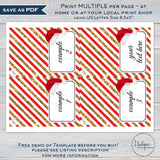Editable Christmas Food Labels, Food Tent Card Party Decorations, Holiday Printable Place Cards, Folded Tent Labels for Food INSTANT ACCESS