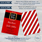 Santa Baby Shower Invitation Kit, Editable Christmas Baby Shower Invite, December Baby Santa Claus Winter Printable Templates INSTANT ACCESS