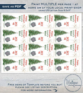 Editable Scratch Off Cards, Printable Scratch to Win Small Business Branding, Christmas Scratch Off, Customer Christmas Gifts INSTANT ACCESS