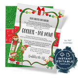 Editable Elf Goobye Letter, Elf Farewell Letter, Shelf Goodbye Stationery Christmas Elf on the Letter Printable Good bye Prop INSTANT ACCESS