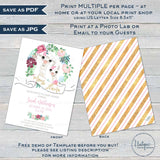 Editable Mama Llama Baby Shower Invitation Kit, Llama Llama Baby Girl Floral Watercolor, Personalized Baby Sprinkle Printable INSTANT ACCESS