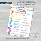 Editable Home School Schedule for Kids, Daily Homeschool Planner, Printable Chart, Rainbow Routine, Parent Teacher Resources INSTANT ACCESS