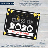 Class of 2020 Yard Sign Editable Graduation Parade Drive By Poster Honk Virtual High School Graduate Printable Toilet Paper Template INSTANT