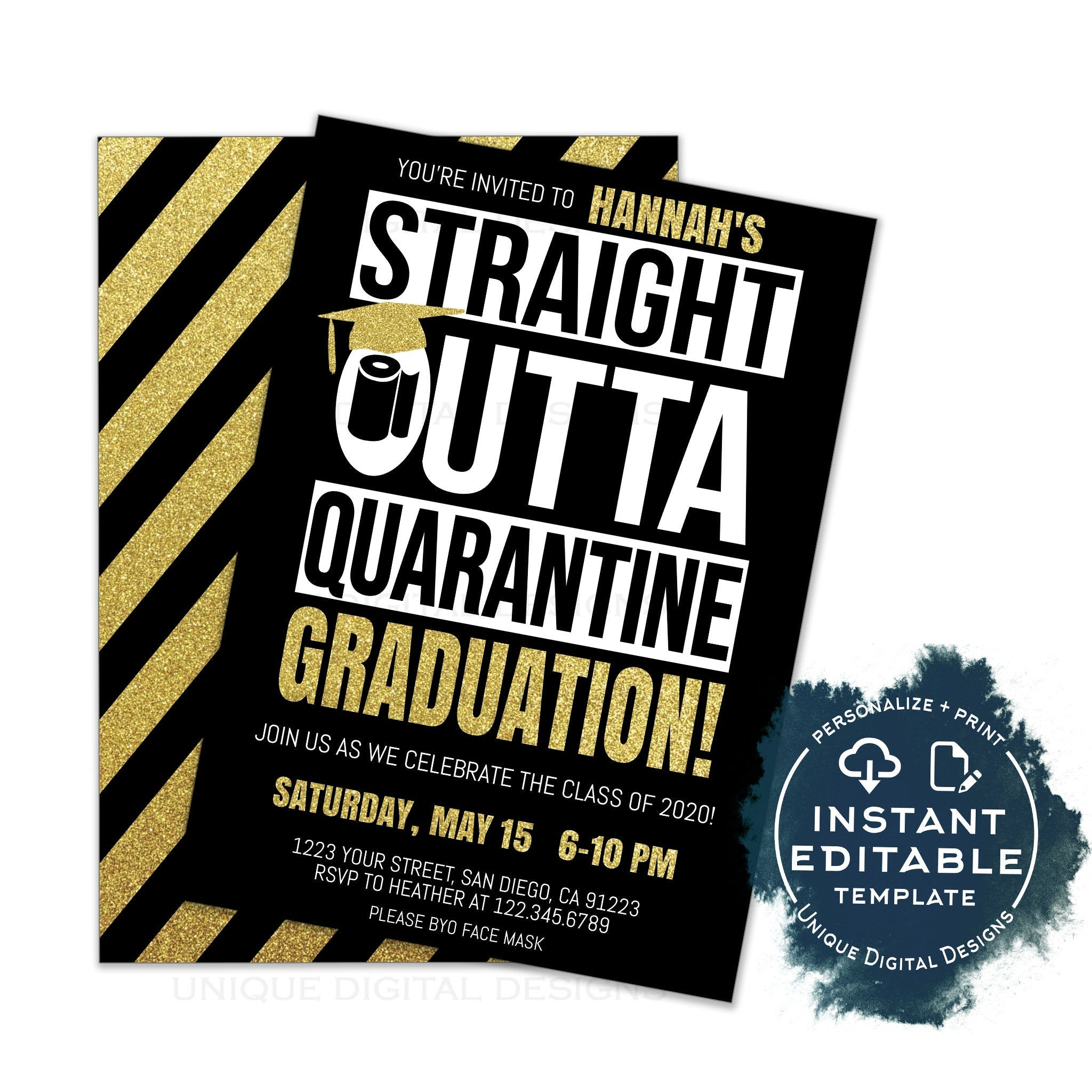 Straight Outta College 2020 or 2021 Pint Glass College Graduation Gift Class of 2021 Graduation Gift Class of 2020