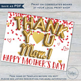 Virtual Mother's Day Yard Sign, Editable Mothers Day Drive By Poster, Thank You Gift from Kids Nana Grandma Gigi Printable Template INSTANT