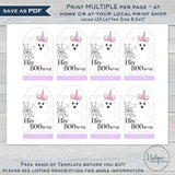 Editable Halloween Favor Tags, Hey Boo Unicorn Personalized Halloween Tags, Girls Trick or Treat Printable, Loot Bag Topper Gift diy INSTANT